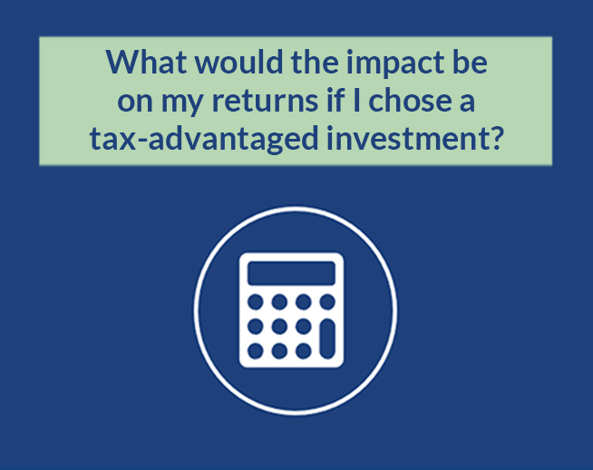 Financial Calculator: What would the impact be on my returns if I chose a tax-advantaged investment?