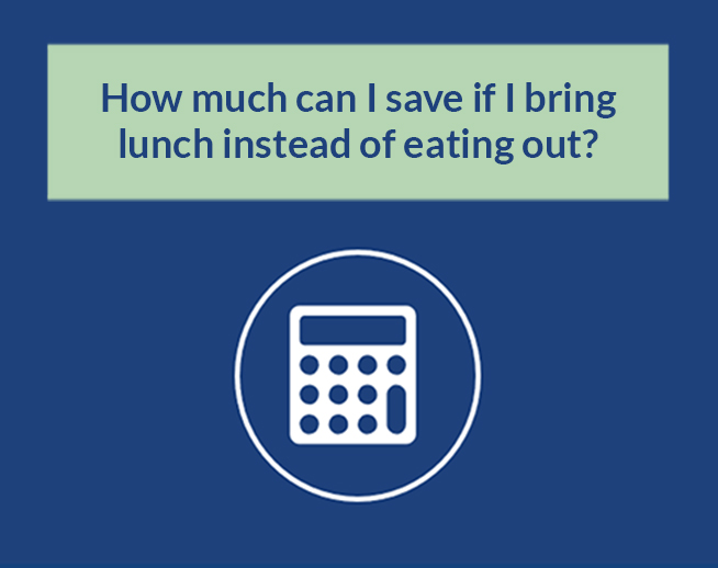 Financial Calculator: How much can I save if I bring lunch instead of eating out?