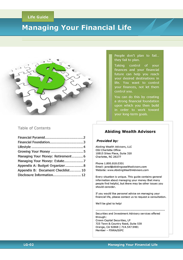 Managing Your Financial Life guide cover