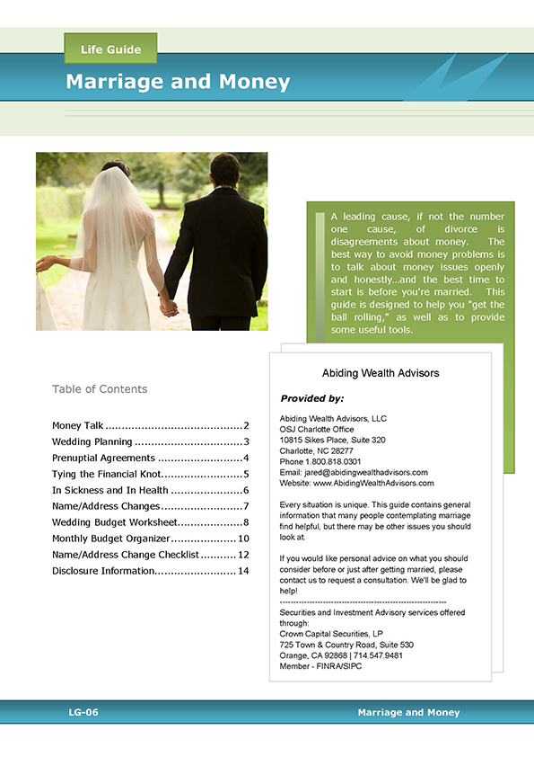Marriage & Money guide cover