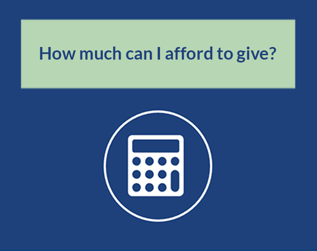 Financial Calculator: How much can I afford to give?
