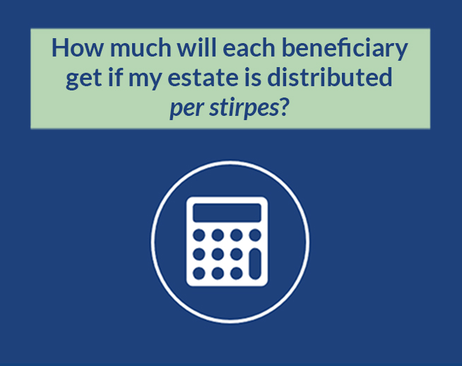 Financial Calculator: How much will each beneficiary get if my estate is distributed per stirpes?